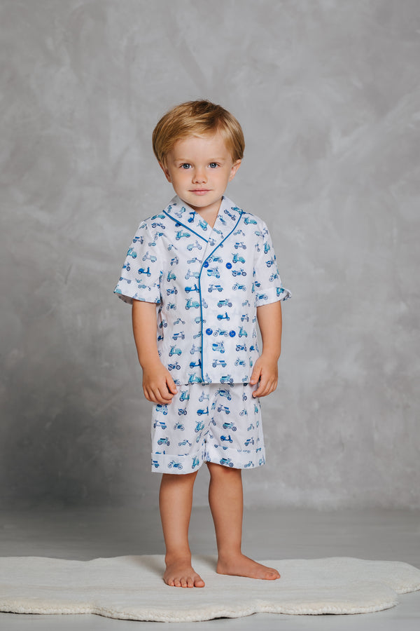 Adorable boys' cotton pyjama set Samuel with car print