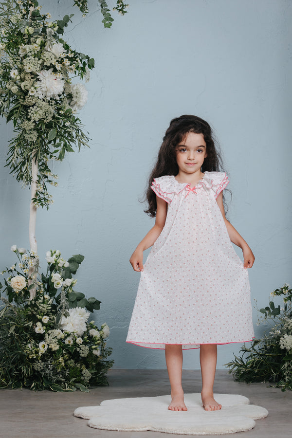 Vintage-inspired children's 100% cotton nightdress Klara