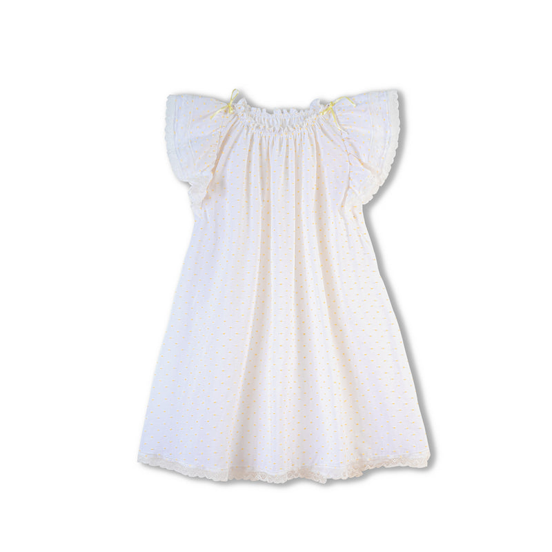 Exclusive white children's nightdress Franny