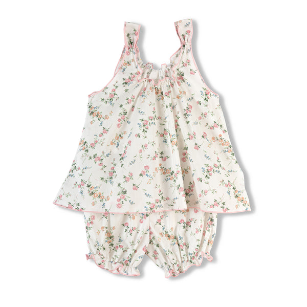 Girls' short-sleeved pyjama set Sylvia - floral