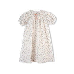 VANESSA GIRLS' COTTON NIGHTDRESS WHITE FLORAL