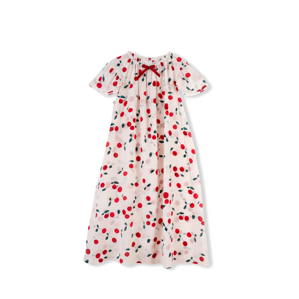 BIRGIT TODDLERS' SILK NIGHTDRESS CHERRY
