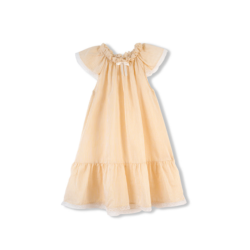 LEONORE KIDS' NIGHTDRESS, YELLOW STRIPES