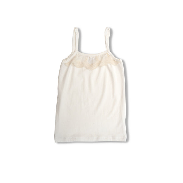 Cute kids' white tank top Thea