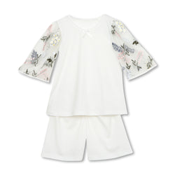 ANDREA IVORY GIRLS' PAJAMA SET