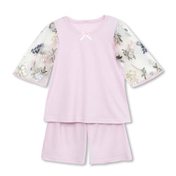 ANDREA LAVENDER GIRLS' PAJAMA SET