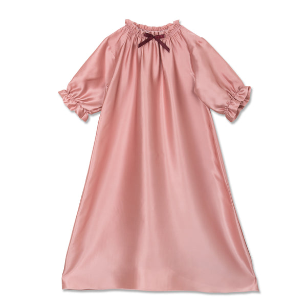 ANTONIA SILK NIGHTGOWN PINK