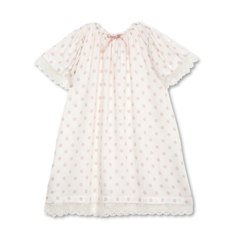 BELLA GIRLS' NIGHTDRESS IN PINK DOTS