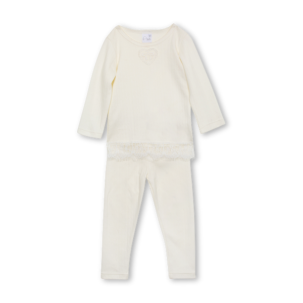 DIANA GIRLS' PYJAMA SET IN WHITE
