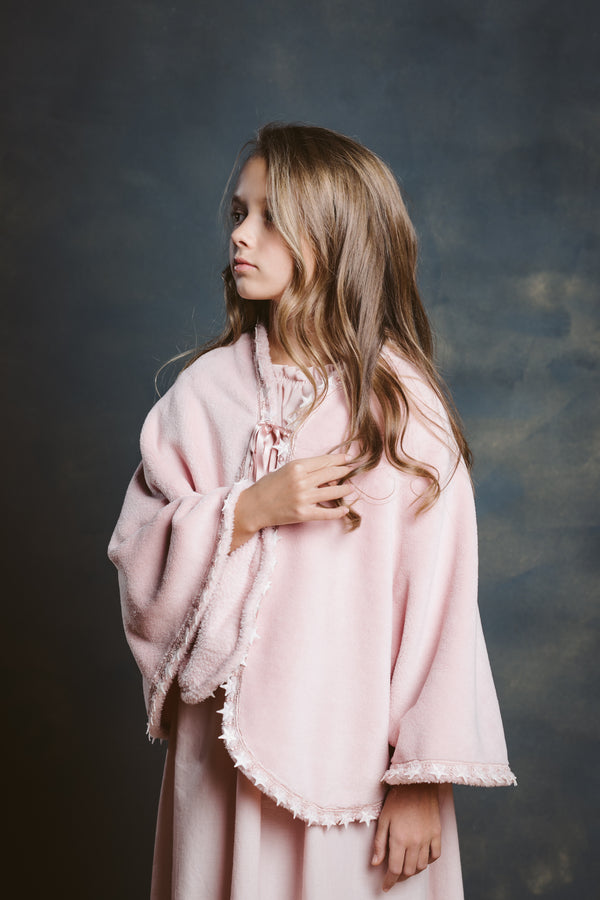 ELIZA CAPE IN PINK/BLUE