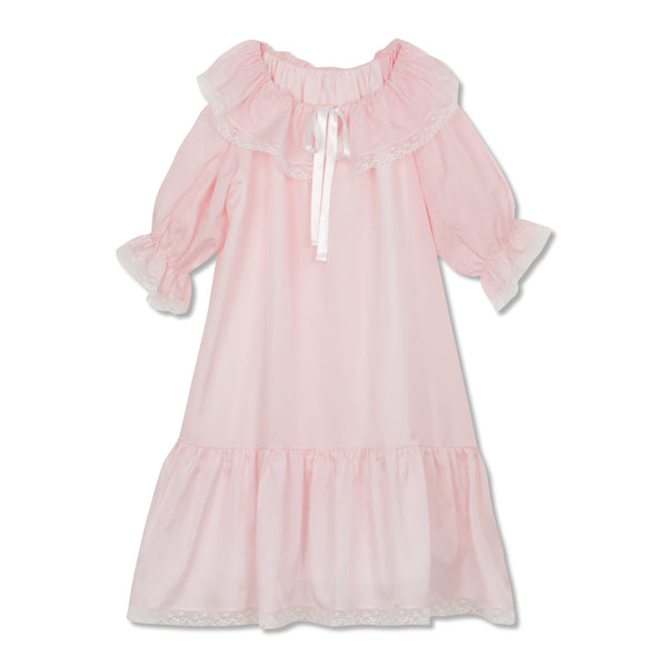 ELIZABETH PINK BLUSH GIRLS NIGHTDRESS