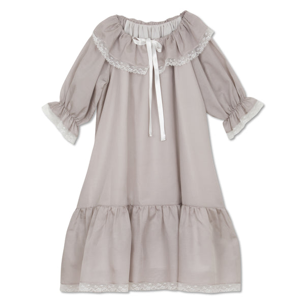 ELIZABETH DOVE GREY GIRLS NIGHTGOWN