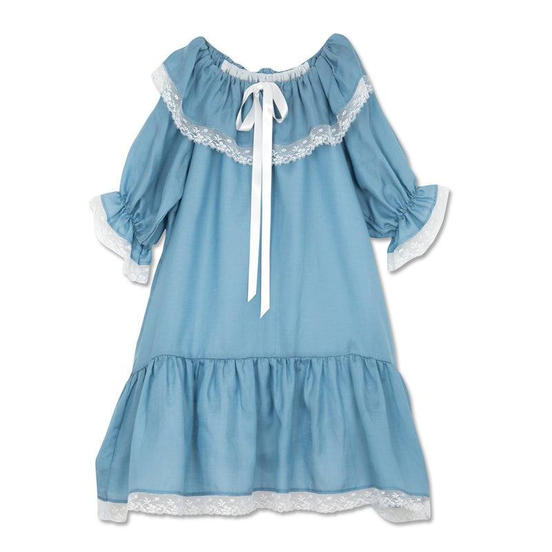 ELIZABETH ROYAL BLUE GIRLS NIGHTGOWN