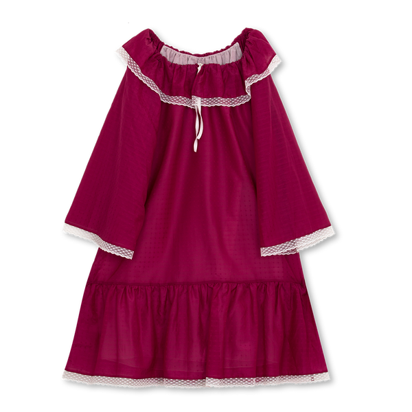 ELIZABETH GIRLS' NIGHTDRESS IN RUBY