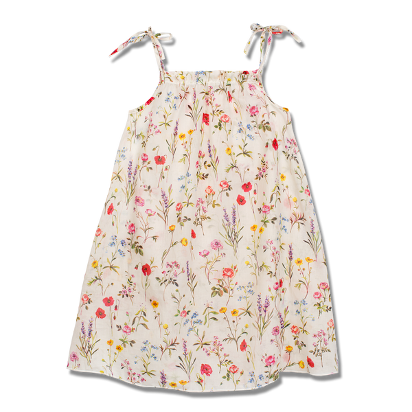 Girls' floral dress - summer dress for girls - girls' cotton dress