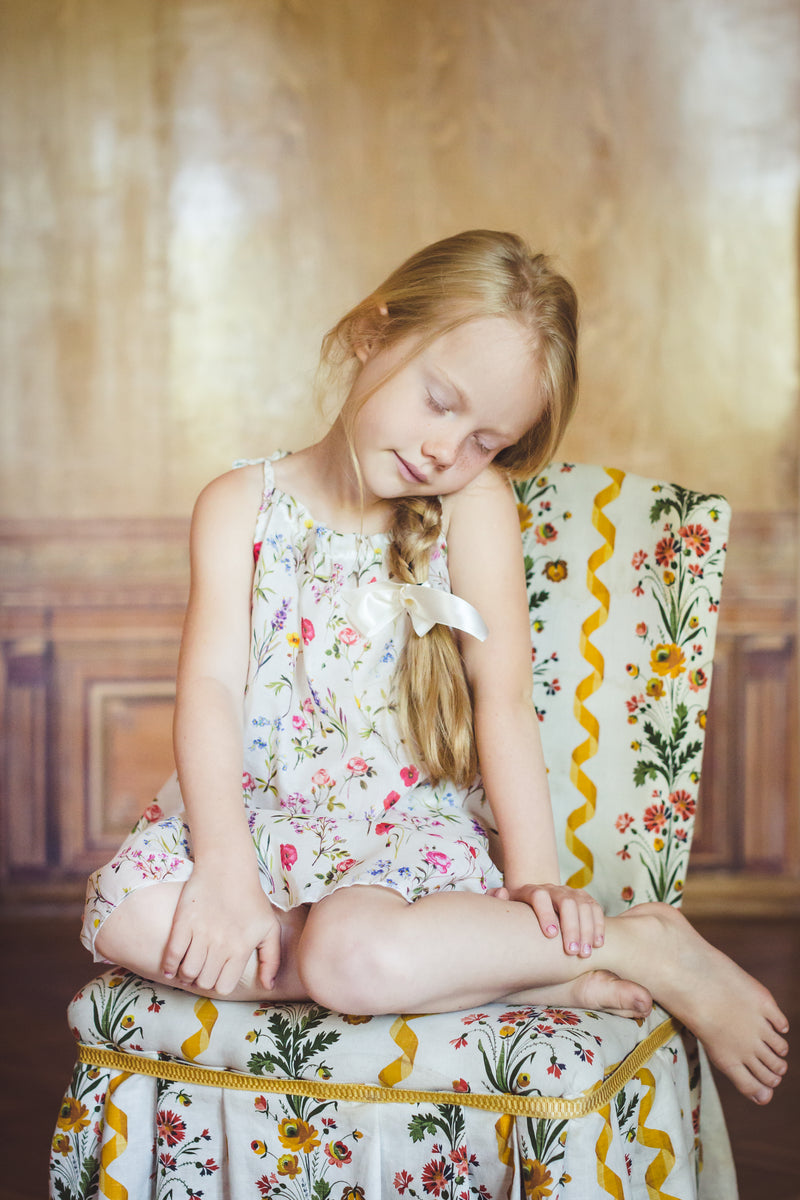 Girls' floral dress - summer dress for girls