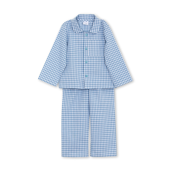 GEORG BOYS' PYJAMA SET IN BLUE CHECKS