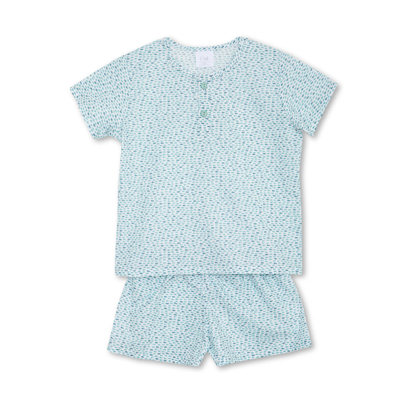 HARRY SHORT-SLEEVED BOYS' PAJAMA SET GREEN FISH