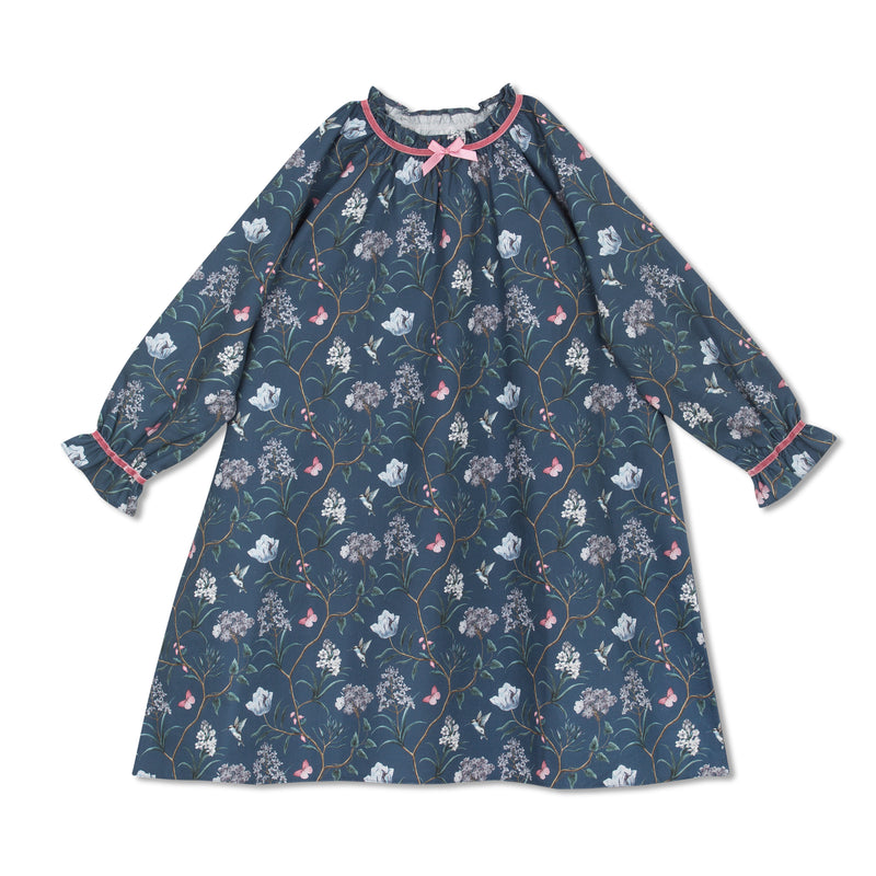 IRIS DARK BLUE GIRLS NIGHTDRESS