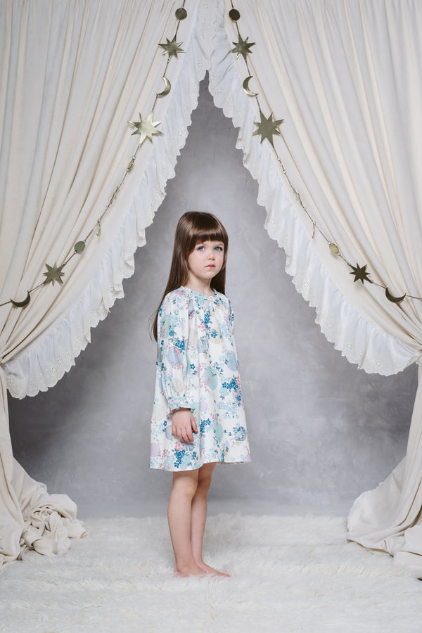 IRIS GIRLS' NIGHTDRESS IN IVORY PRINT