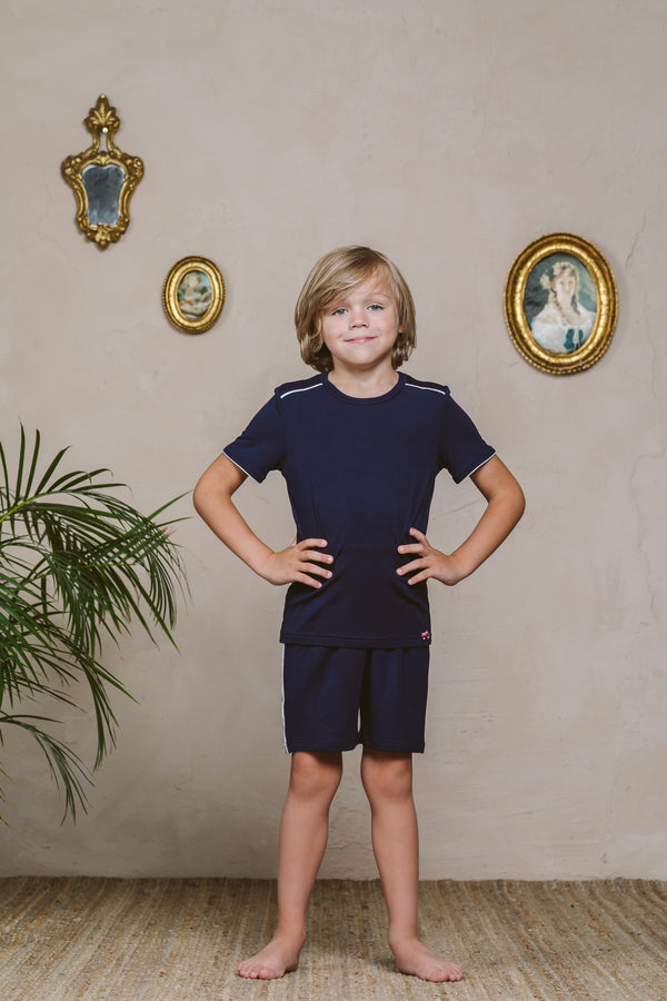 IVAN BOYS' PAJAMA SET NAVY