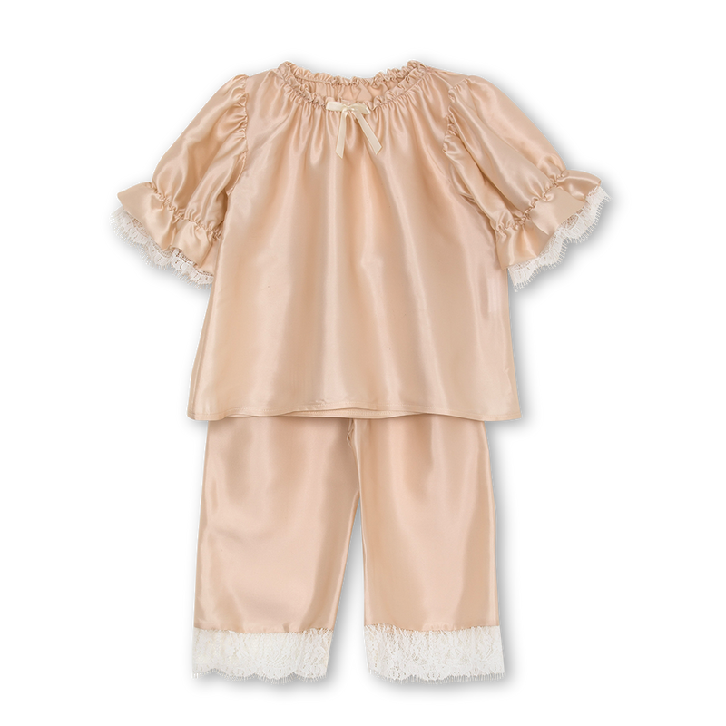 JUSTINE GIRLS' PYJAMA SET IN BISCUIT