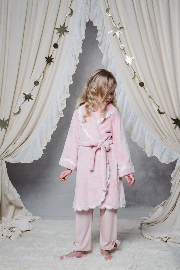 KAYLA GIRLS' BATHROBE IN PINK