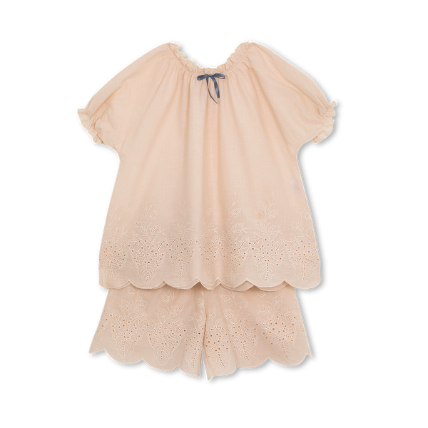 LAURA GIRLS' PYJAMA SET IN BEIGE