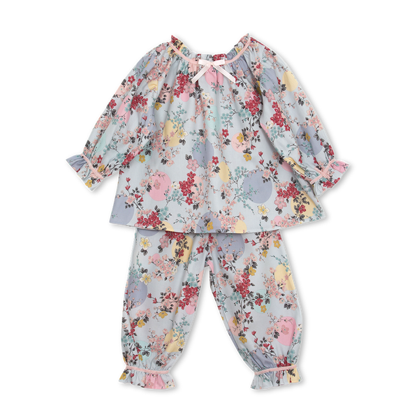 MARTHA KIDS' PYJAMA SET IN BLUE PRINT