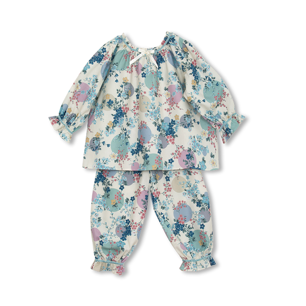 MARTHA KIDS' PYJAMA SET IN IVORY PRINT