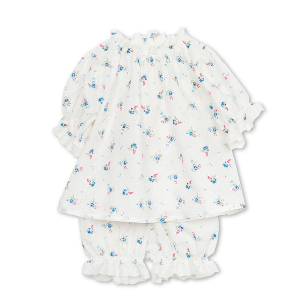 NATHALIE CHILDREN'S PAJAMA SET IVORY