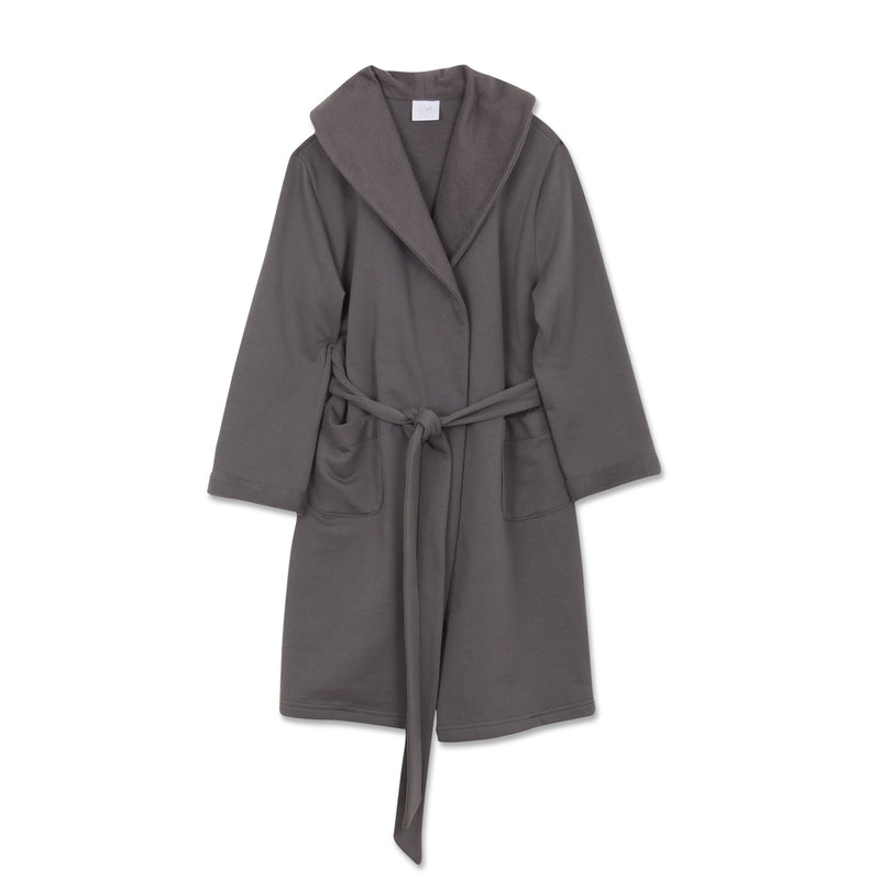 NATHAN DARK GREY BOYS BATHROBE