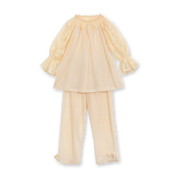 PAMELA GIRLS' PYJAMA SET IN IVORY
