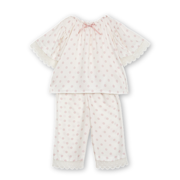 ROSE GIRLS' PYJAMA SET IN PINK DOTS