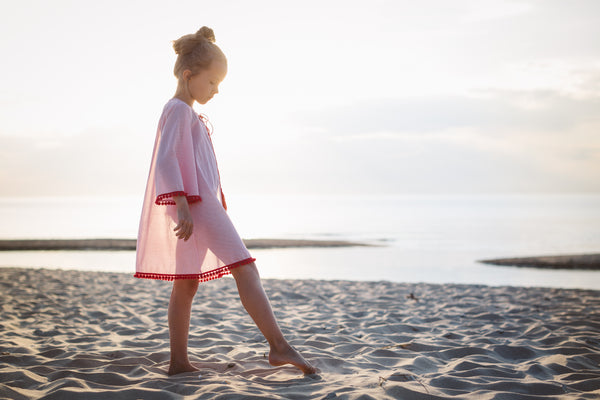 Girls beach tunic Sabina - sun protecting tunic for kids
