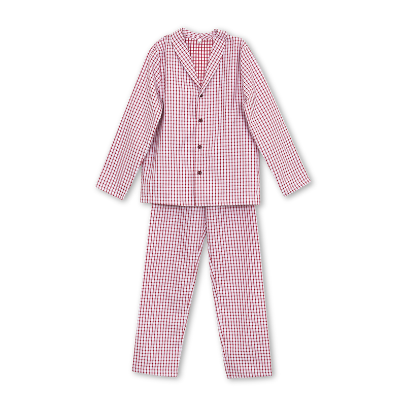 SAM BOYS' PYJAMA SET IN RED CHECKS