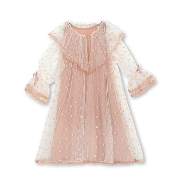 SANDRA GIRLS' TULLE NIGHTDRESS IN BLUSH