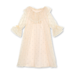 SANDRA GIRLS' TULLE NIGHTDRESS IN IVORY