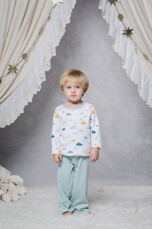 SERGIO BOYS' PYJAMA SET IN CLOUDS