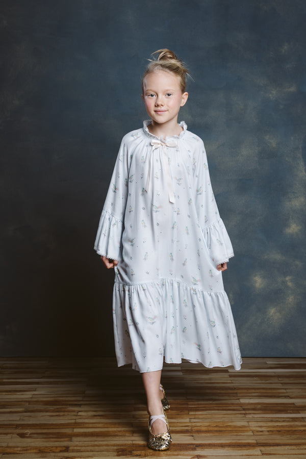 STEPHANIE BLUE BIRDS NIGHTDRESS