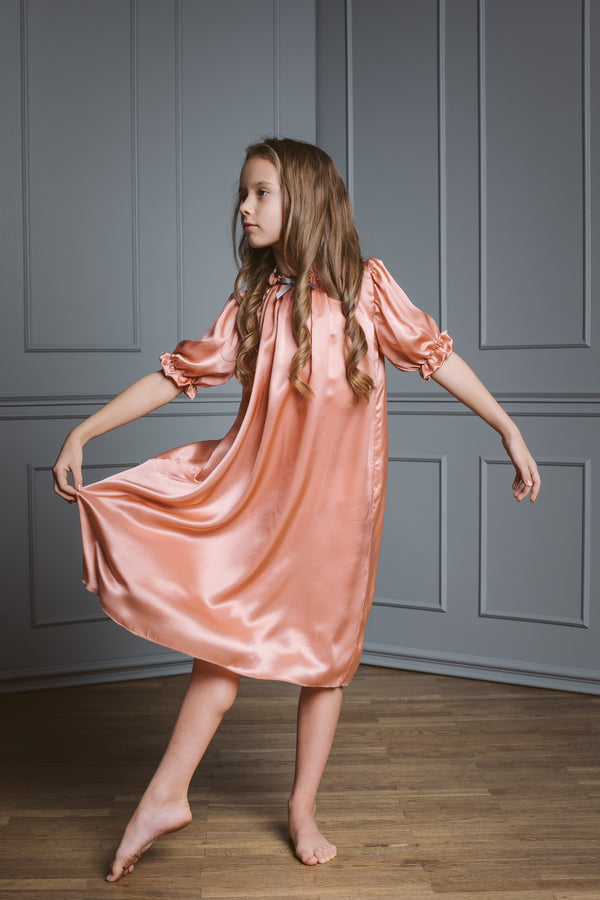 Kids Silk Nightdress - Luxury nightwear for children - AMIKI Children