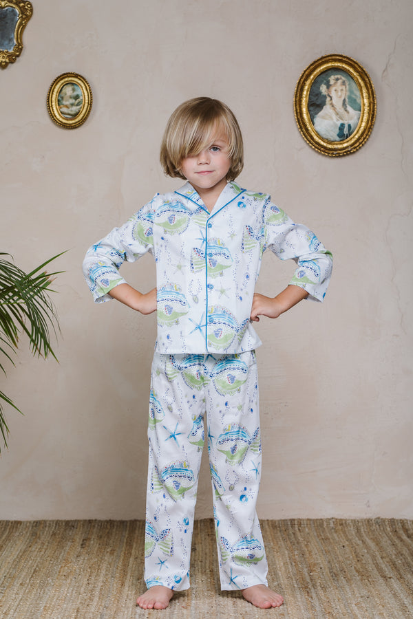 Luxurious girls' Pyjama set Grace - girls' Victorian pajama set