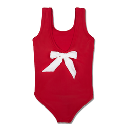 VIOLA GIRLS' SWIMSUIT IN RED IN SIZE 0-2Y