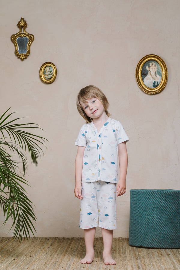 WALTER BOYS' PAJAMA SET CLOUDS
