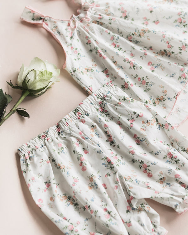 SYLVIA LIBERTY PRINT GIRLS' COTTON PYJAMA SET VINTAGE FLOWERS