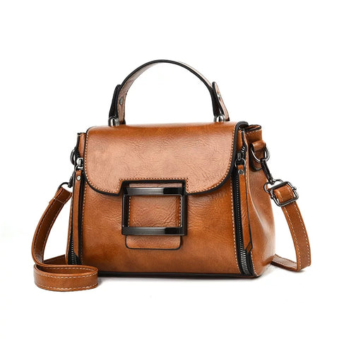 sac a main en cuir marron