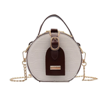 cross body croco couleur blanc