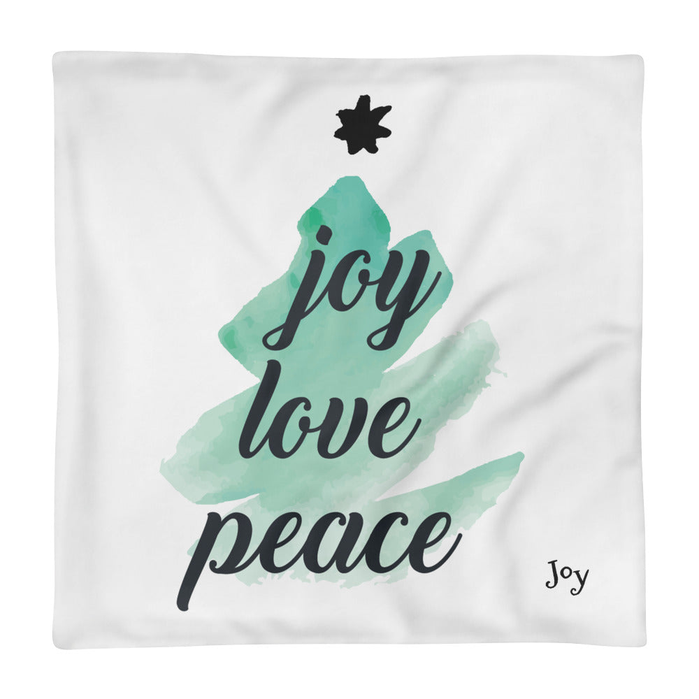 Joy Love Peace Basic Pillow Case only