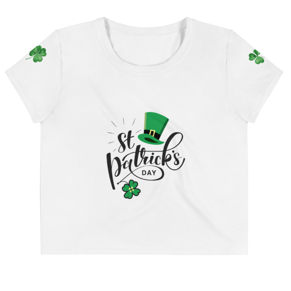 St. Patrick's Day All-Over Print Crop Tee
