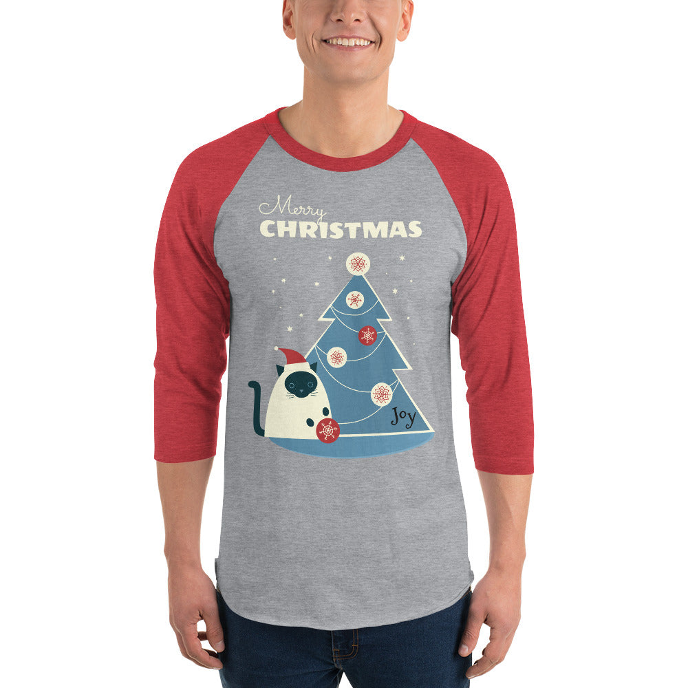 Merry Cat 3/4 sleeve raglan shirt